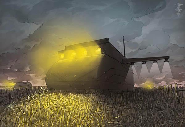 Dystopian agricultural robotics
