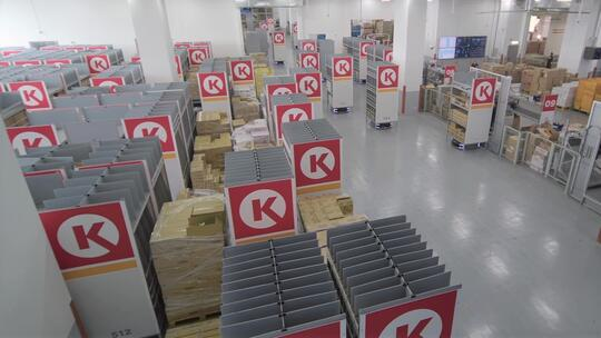 Geek+ mobile robots in Circle K warehouse.