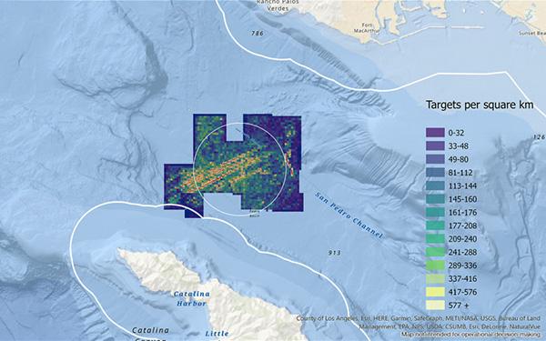 Scripps underwater survey heat map