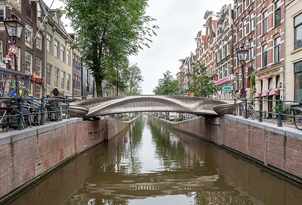 MX3D Smart Bridge in Amsterdam