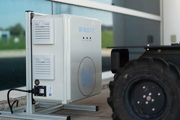 Husky UGV wirelessly charging