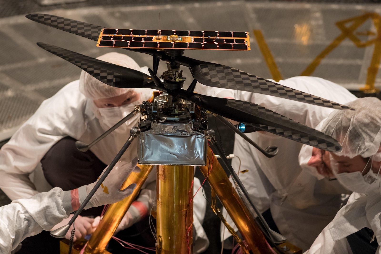 Drone development for Mars